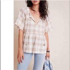 The Bette Babydoll Blouse Top Anthropologie